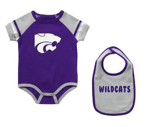 Kansas State Wildcats Warner Infant Onesie & Bib Set - 2008392