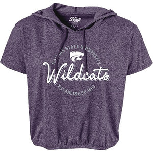 Kansas State Wildcats Womens Short Sleeve Hooded T-Shirt - 2008403