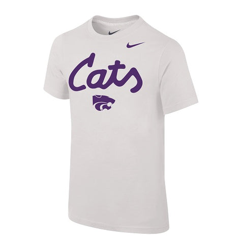 Kansas State Wildcats Nike Cats White Short Sleeve T-Shirt - 2008458