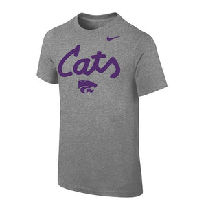Kansas State Wildcats Nike Cats Grey Short Sleeve T-Shirt - 2008459
