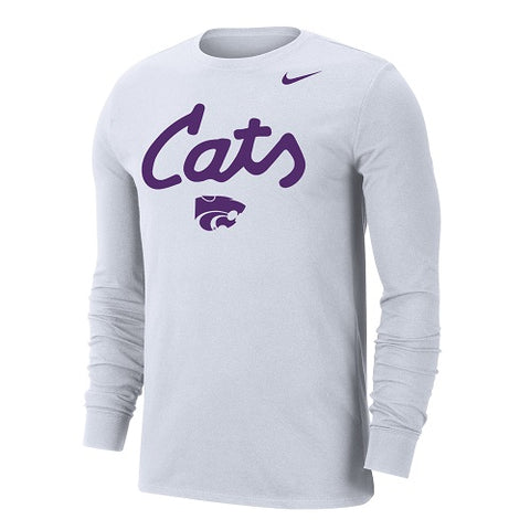 Kansas State Wildcats Nike Cats White Long Sleeve T-Shirt - 2008460