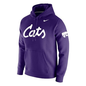 Kansas State Wildcats Nike Cats Purple Club Fleece Hoodie - 2008463