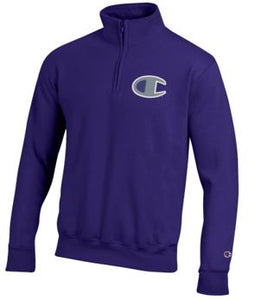 Champion Purple Powerblend 1/4 Zip Sweatshirt - 2008508