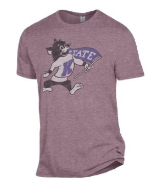 Kansas State Wildcats Purple Keeper Willie the Wildcat T-Shirt - 2008516