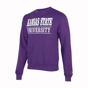 Kansas State Wildcats Champion Powerblend Bar Crew Sweatshirt - 2008529