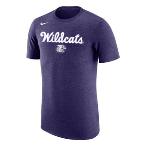 K-State Nike Wildcats Script Purple Tri-Blend T-Shirt - 2008536