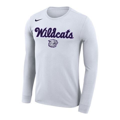 K-State Nike Wildcats Script Performance Long Sleeve T-Shirt - 2008538