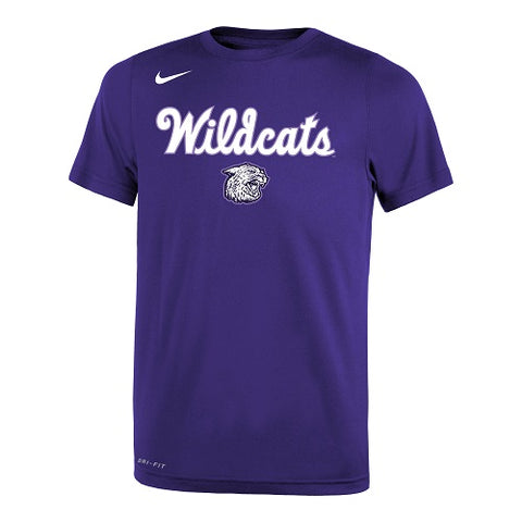 K-State Nike Wildcats Script Youth Purple Legend T-Shirt - 2008545