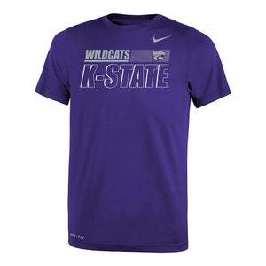 Kansas State Wildcats 2020 Nike Youth Legend Sideline T-Shirt - 2008594