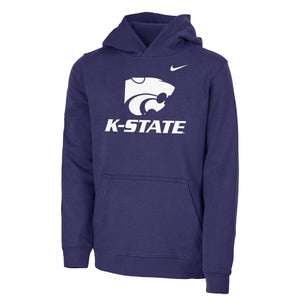 Kansas State Wildcats Nike Youth Club Pullover Hoodie - 2008604