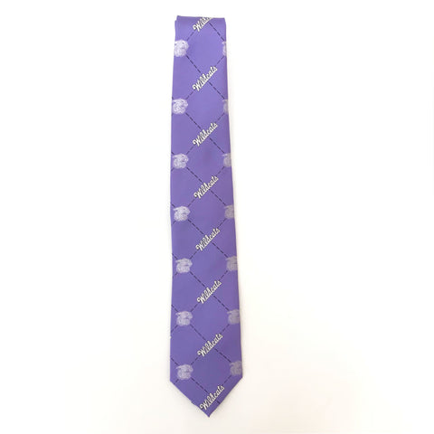 K-State Wildcats Script Throwback Lavender Tie - 2008614