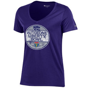 K-State Wildcats 2019 Liberty Bowl Women's V-Neck T-Shirt - 2008623