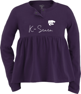 Kansas State Wildcats Toddler Girls Vivian Peplum Top - 2008637