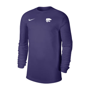 Kansas State Wildcats Nike Purple UV Coaches Long Sleeve T-Shirt - 2008680