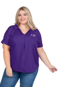 Kansas State Wildcats Women's Plus Size Purple Dolman Top - 2008813