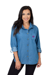 Kansas State Wildcats Missy Denim Shirt - 2008814