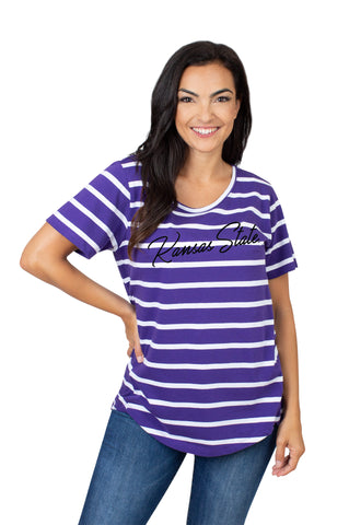 Kansas State Wildcats Women's Striped Top - 2008815