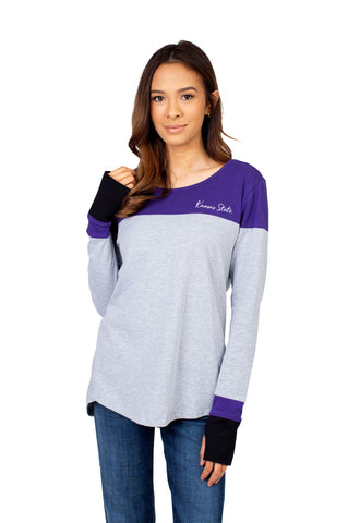 Kansas State Wildcats Women's Colorblock Long Sleeve Top - 2008818