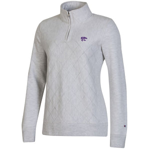 Kansas State Wildcats Champion Women's Reverse Weave Quilted 1/4 Zip - 2008839