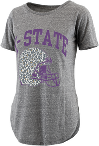 Kansas State Wildcats Women's Knobi Rounded T-Shirt - 2008853