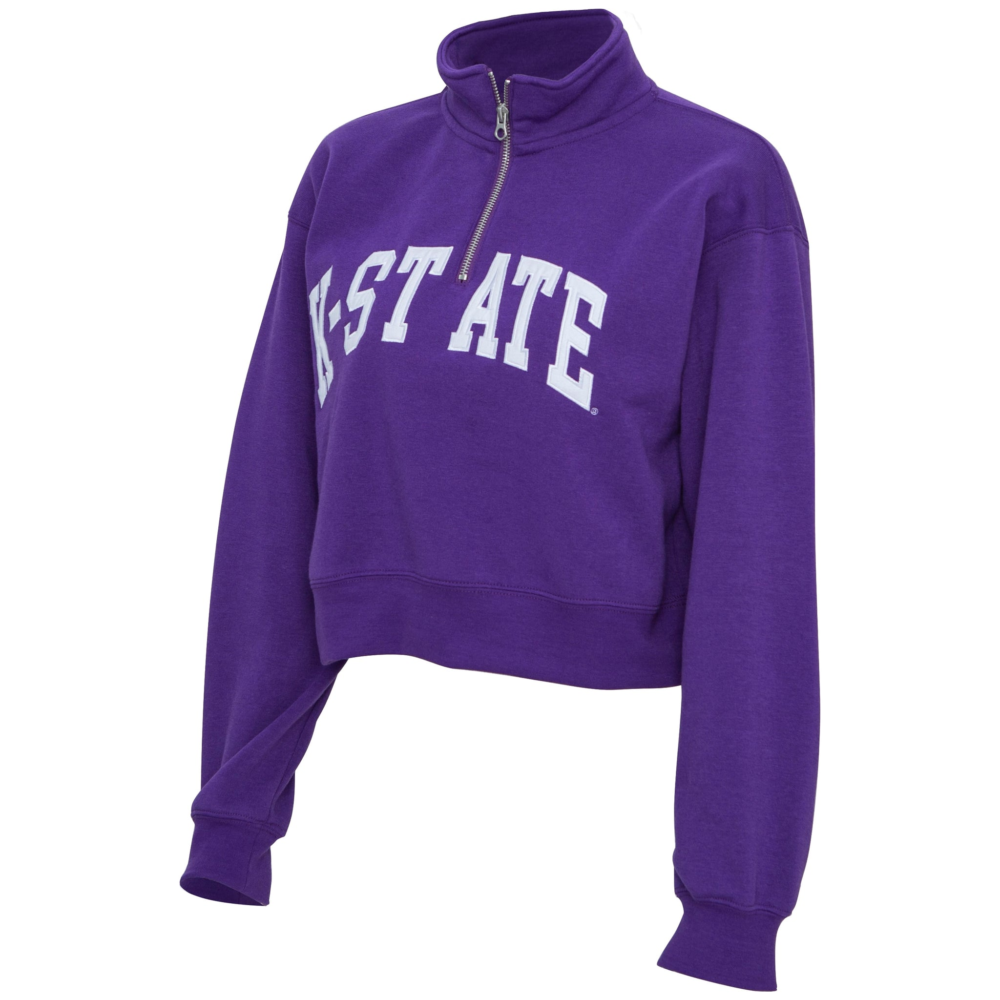 Kansas State Wildcats Women's Crop Quarter Zip Sweatshirt - 2008887