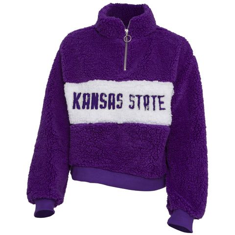 Kansas State Wildcats Women's Teddy Quarter Zip - 2008889