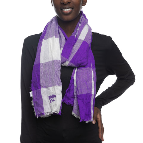 Kansas State Wildcats Women's Buffalo Check Scarf - 2008891