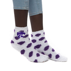 Kansas State Wildcats Reverse Fuzzy Dot Socks - 2008901