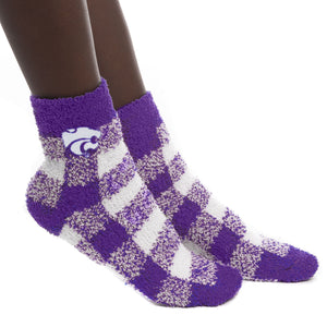Kansas State Wildcats Buffalo Check Fuzzy Socks - 2008902