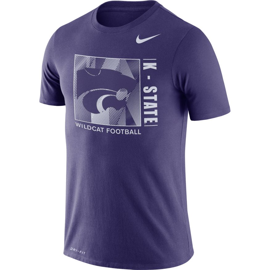 Kansas State Wildcats Nike Dri-Fit Cotton Team Issue T-Shirt - 2008916