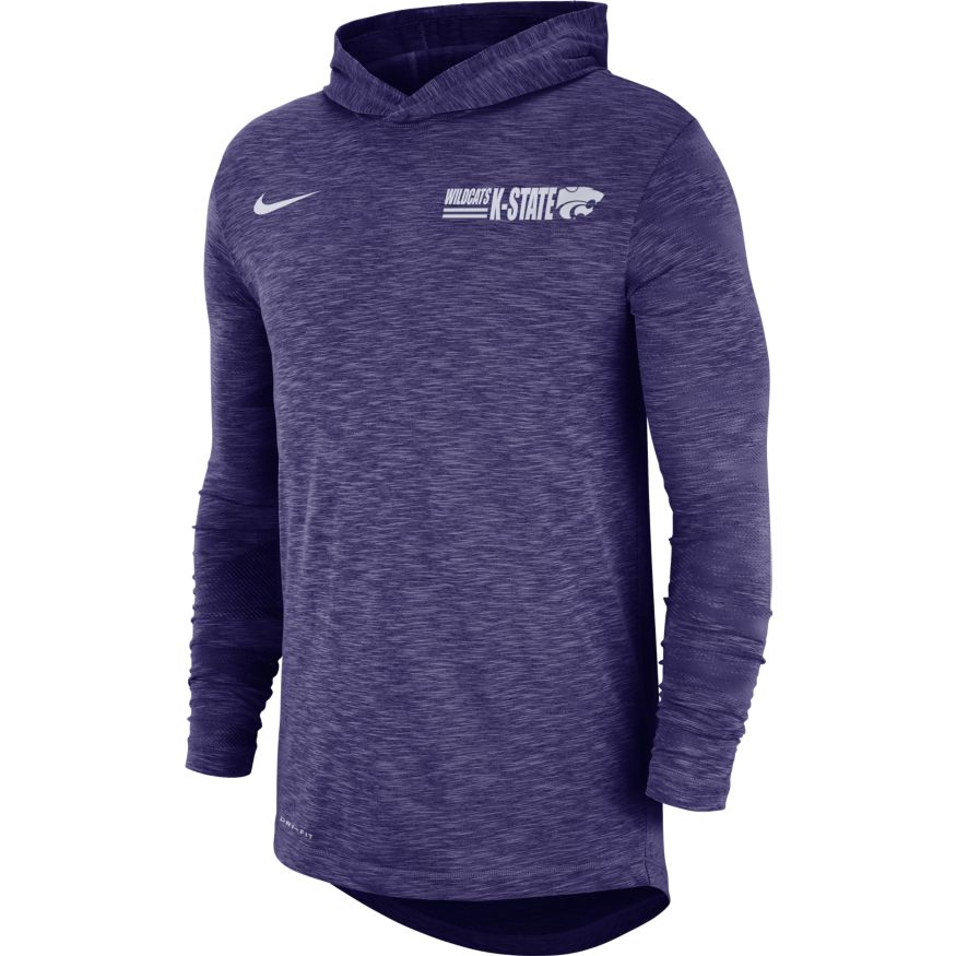 Kansas State Wildcats Nike Long Sleeve Slub Hooded T-Shirt - 2008930