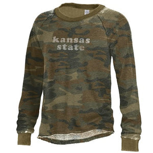 Kansas State Wildcats Women's Lazy Day Camo Pullover - 2008974