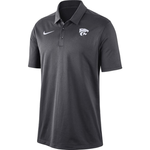 Kansas State Wildcats Nike Anthracite Grey Franchise Polo - 2009010
