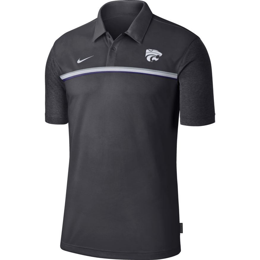 Kansas State Wildcats Nike Men's Anthracite Dry Polo - 2009012