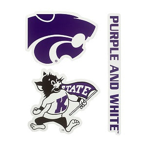 Kansas State Wildcats 3 Pack Decal Set - 2009057