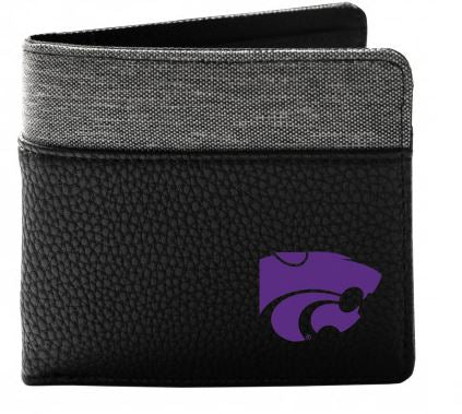 Kansas State Wildcats Pebble Bi-Fold Wallet - 2009070