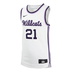 Kansas State Wildcats Nike 2021 White Throwback Basketball Jersey - 2009119