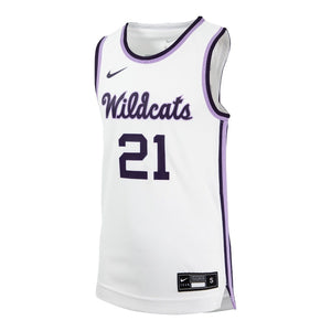 Kansas State Wildcats Nike Youth 2021 White Throwback Basketball Jersey - 2009122