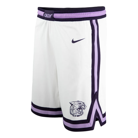 Kansas State Wildcats Nike 2021 White Throwback Basketball Shorts - 2009120