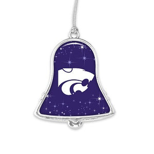 Kansas State Wildcats Glitter Bell Ornament - 2009142