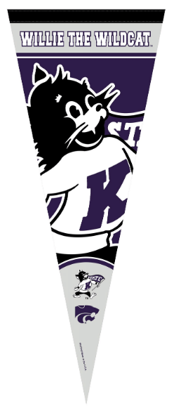 Kansas State Wildcats Willie the Wildcat Pennant - 2009155