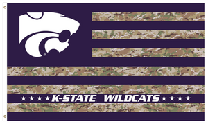 Kansas State Wildcats Military Strong Camo Flag - 2009173