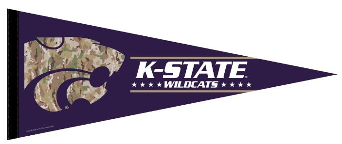 Kansas State Wildcats Military Strong Camo Pennant - 2009175