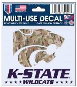 Kansas State Wildcats Military Strong Camo Decal - 2009176