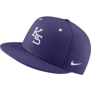 Kansas State Wildcats Nike Purple Aero True Fitted Baseball Cap - 2009259