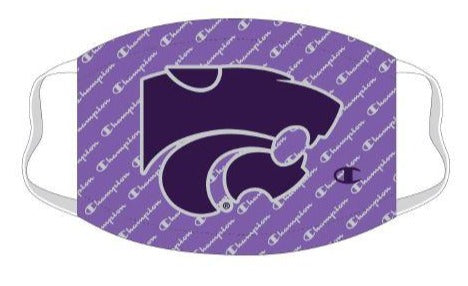 Kansas State Wildcats Lavender Champion Script Face Mask - 2009500