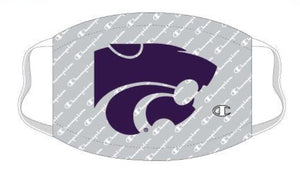Kansas State Wildcats Grey Champion Script Face Mask - 2009496