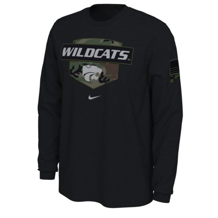 Kansas State Wildcats Nike Veteran's Day Camo Long Sleeve T-Shirt - 2009342