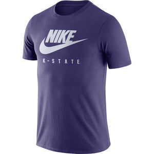 Kansas State Wildcats Nike Purple Essential Futura T-Shirt - 2009395