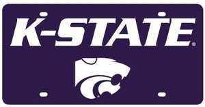 Kansas State Wildcats Purple Wordmark Acrylic License Plate - 2010189